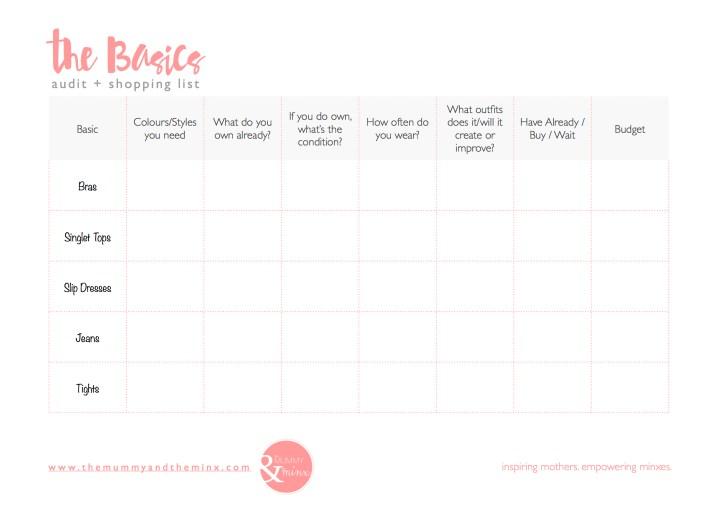 Basics - audit + shopping list JPEG