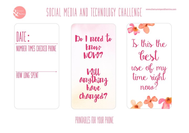 Healthy Social Media Habits - Free Printables for Your Phone