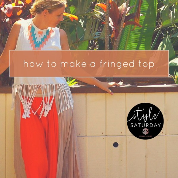 how to make a fringed top