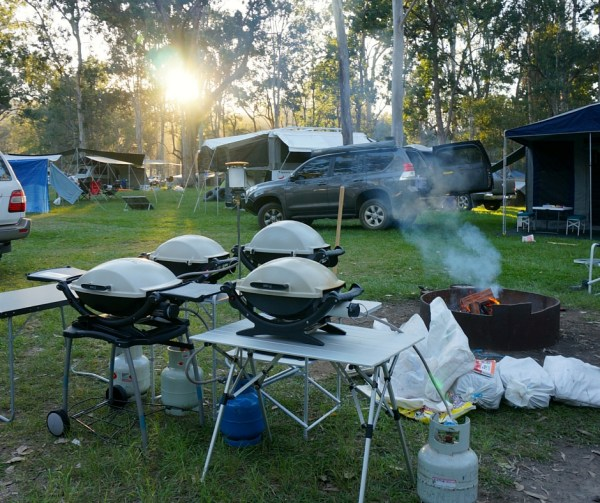 glamping cooking