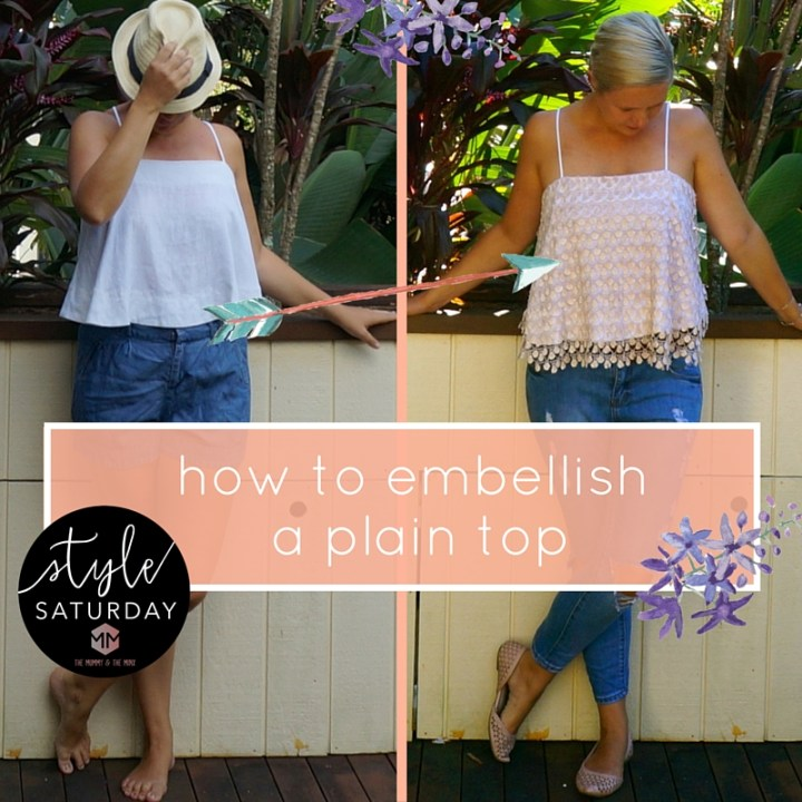 How to embellish a plain top