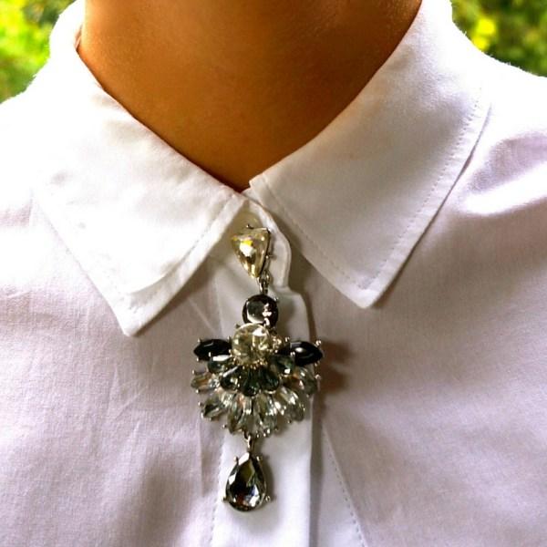 Brooch - earring neck pin