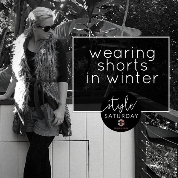 wearing shorts in winter