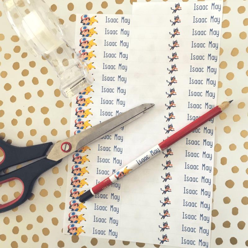 Labelling pencils etc