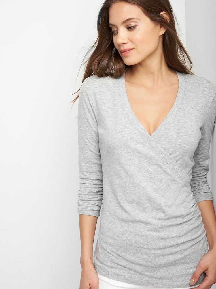 Grey Gap maternity top