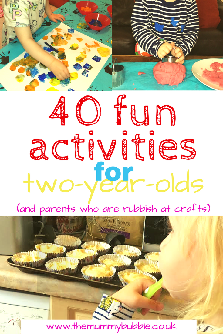 40 fun activities for two-year-olds #parenting #toddler
