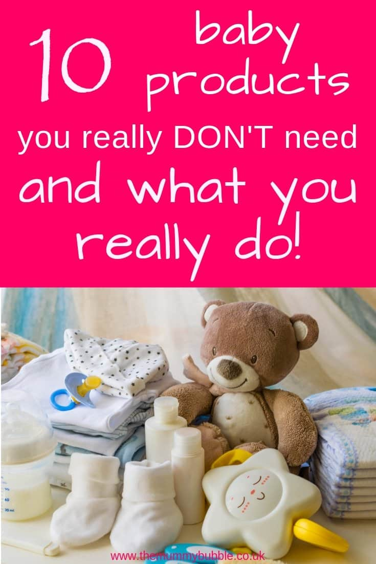 10 baby products you do not need, and what you really do! Lots of tips for pregnant mums wondering what to buy