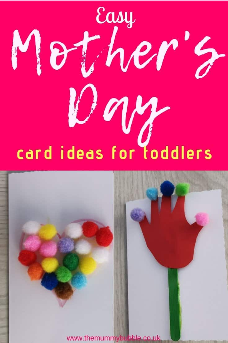 Easy Mother's Day card ideas for toddlers and pre-schoolers