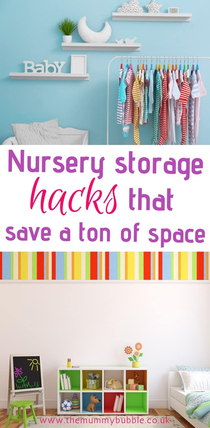 Nursery storage hacks that will save you lots of space - brilliant ideas for organising your baby's room