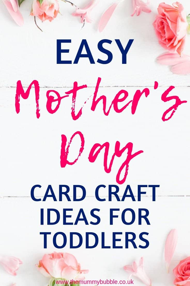 Easy Mother's Day card craft ideas for toddlers to make