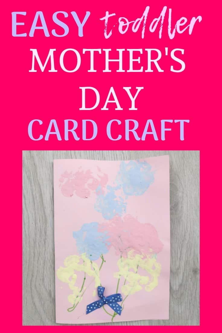 Easy toddler Mother's Day card craft
