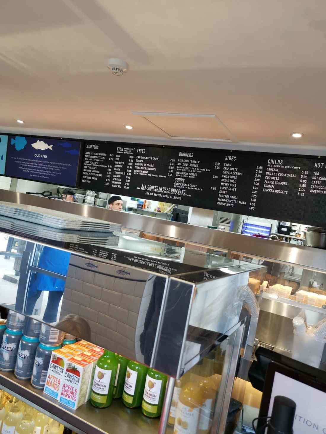 Rick Stein's fish and chips in Padstow
