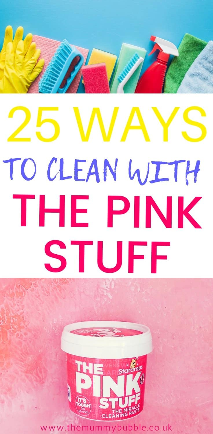 25 ways to clean with The Pink Stuff