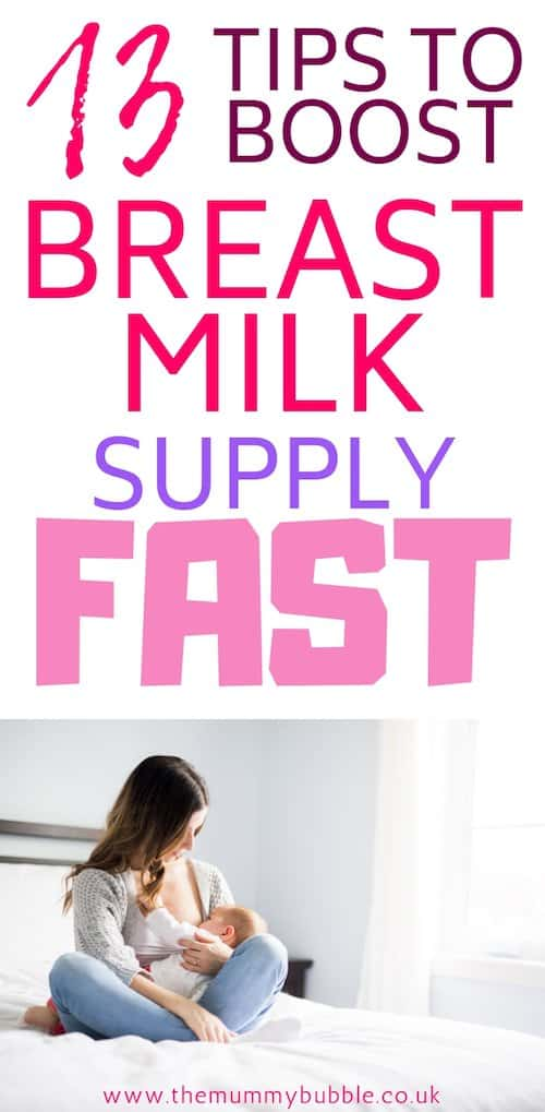 13 tips to boost breast milk supply fast