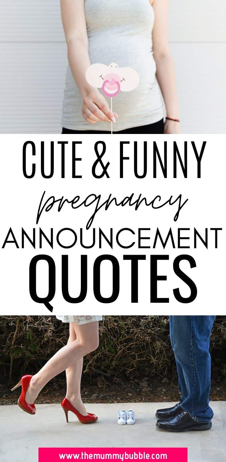 cute and funny pregnancy announcement quotes