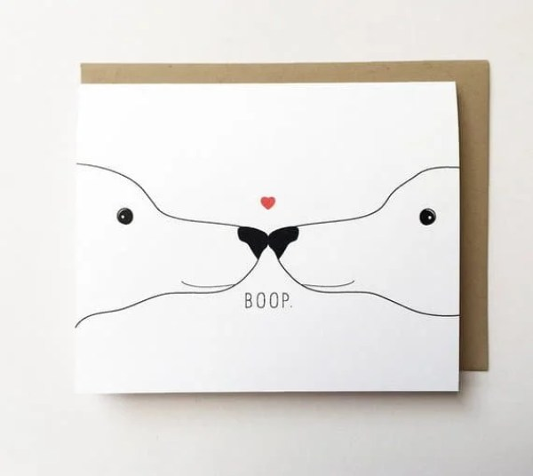 Cute dog valentines card for kids