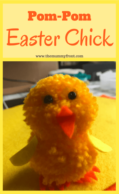 Pom-Pom Easter Chick | Simple Craft Activity For Kids