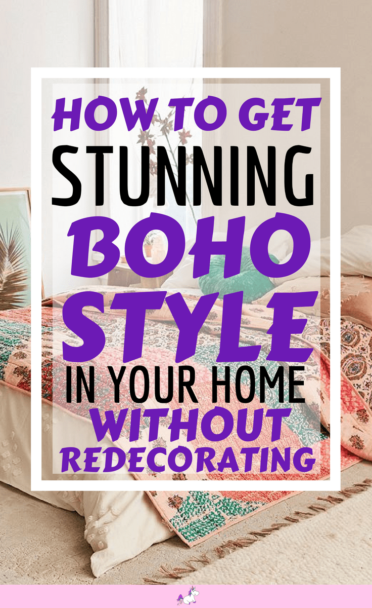 How to get Bohemian Style Decor In Your Home Without Redecorating #bohostyledecor #rusticbohostyle #bedroomideas