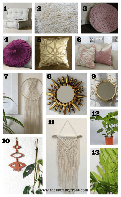 Beautiful Boho Inspired Products for your home