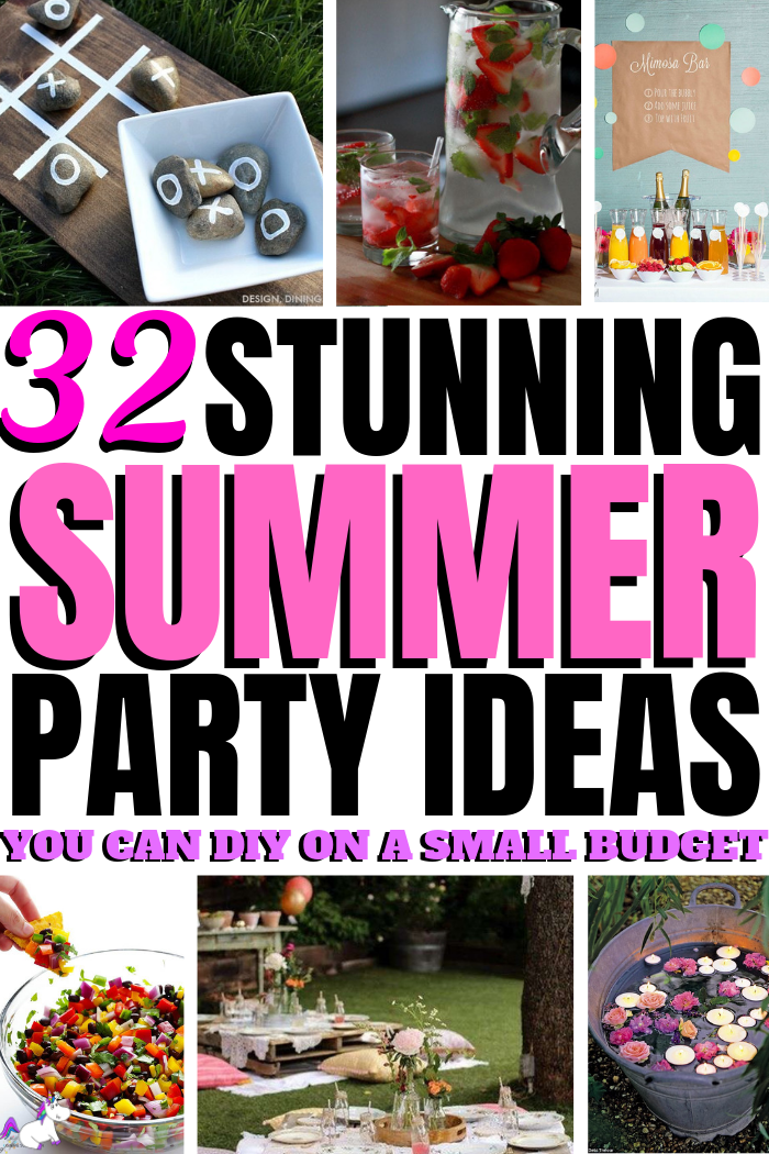 32 Incredible Summer Party Ideas You Can DIY on a Small Budget | Garden Party | Entertaining ideas | Party Planning | Cheap Party Ideas | Budget Party Ideas | Via://https://themummyfront.com #themummyfront #gardenpartyideas #summerpartyideas #diypartydecor #partydecorideas #partyplanning