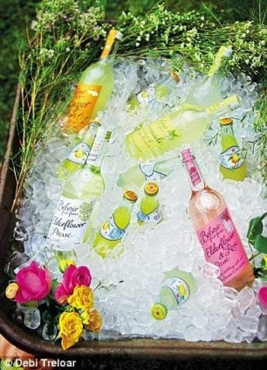 Summer Party Ideas | Wheelbarrow drinks cooler #gardenparty