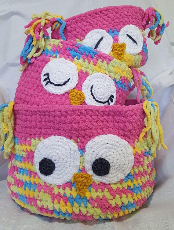Crochet Basket Pattern, Instant Download Tutorial Pattern, Nesting Baskets, Crochet Bowls, Round Yarn Containers #storage #organization #organisation #crafty #craft #makemoney #sellcrafts #diy #crochetcraft