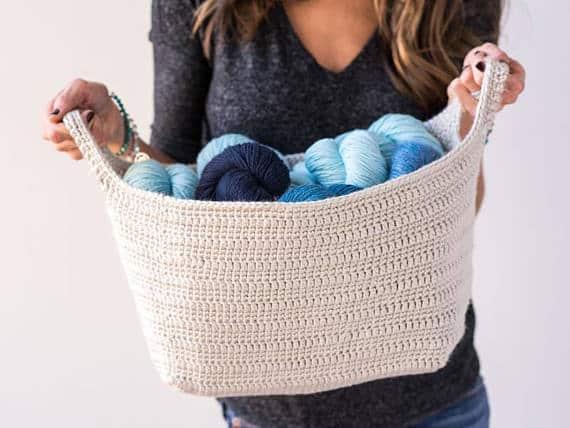 Crochet Pattern ~ Essentials Basket ~ Crochet Pattern #storage #organization #organisation #crafty #craft #makemoney #sellcrafts #diy #crochetcraft