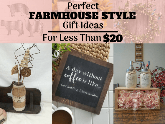 Perfect Farmhouse Style Gift Ideas For Less Than 20 The Mummy Front