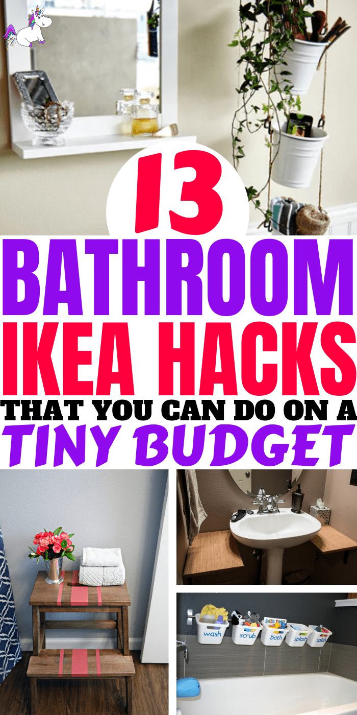 13 Bathrrom Ikea Hacks That You Can Do On A Tiny Budget. Ikea makes DIY home decor super easy.