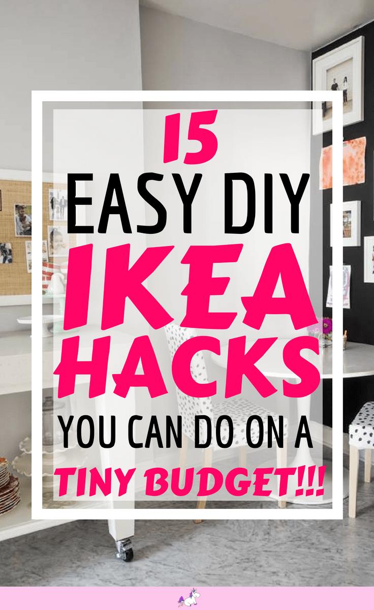 15 DIY Hacks From IKEA That You Can Do On A Tiny Budget #ikea #ikeahack #ikeahacks #homedecoronabudget