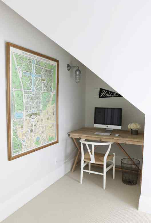 Small Home Office Ideas That Will Make You Want to Work Overtime, office under the stairs