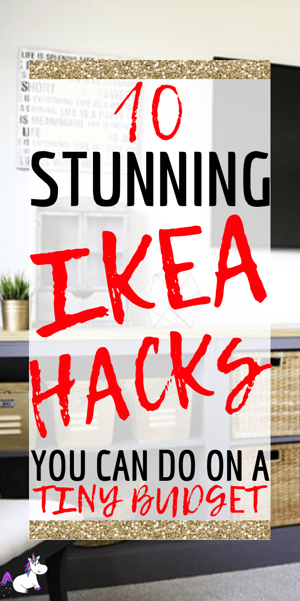 10 Stunning & Easy Ikea Hacks You Must See via: https://themummyfront.com #ikea #ikeahacks #ikeaideas #homedecorideas #homedecor #budgethomedecor #cheap #roomidea #themummyfront #homedecordiy #diy #diyikeahacks