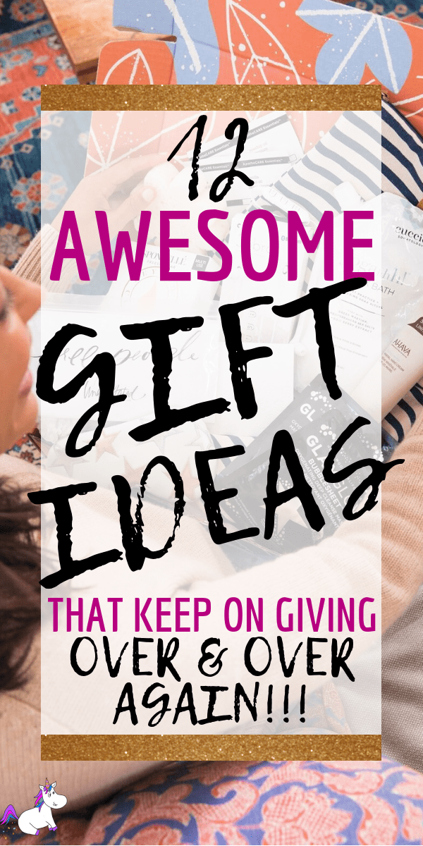 12 Awesome Gifts That Keep Giving All Year Long, Save money this christmas by giving thoughtful gifts that let people know how much you appreciate them. These gift ideas include something for everyone, so whether you're looking for gifts for mom, dad, siblings or children, this christmas gift guide has the perfect gift idea this year! via: https://themummyfront.com #giftsthatkeepgiving #christmasgifts #giftideas #bestgifts #giftsformom #giftsforher #giftsfordad #giftsforhim #usefulgifts #themummyfront.com