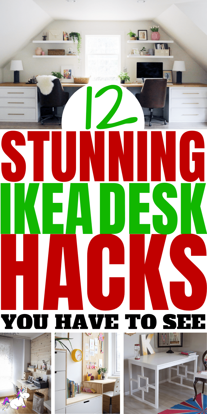 12 Stunning Ikea Desk Hacks You Have To See | Ikea hacks | DIY home decor | ikea furniture | ikea furniture hacks | Ikea DIY | Via: https://themummyfront #themummyfront.com #ikeadeskhacks #ikeafurniturehacks #ikeadiy #ikeahacks #ikeadeskhack #diydesk #desksetup #deskdecor #homedecoronabudget #smallhomeoffice