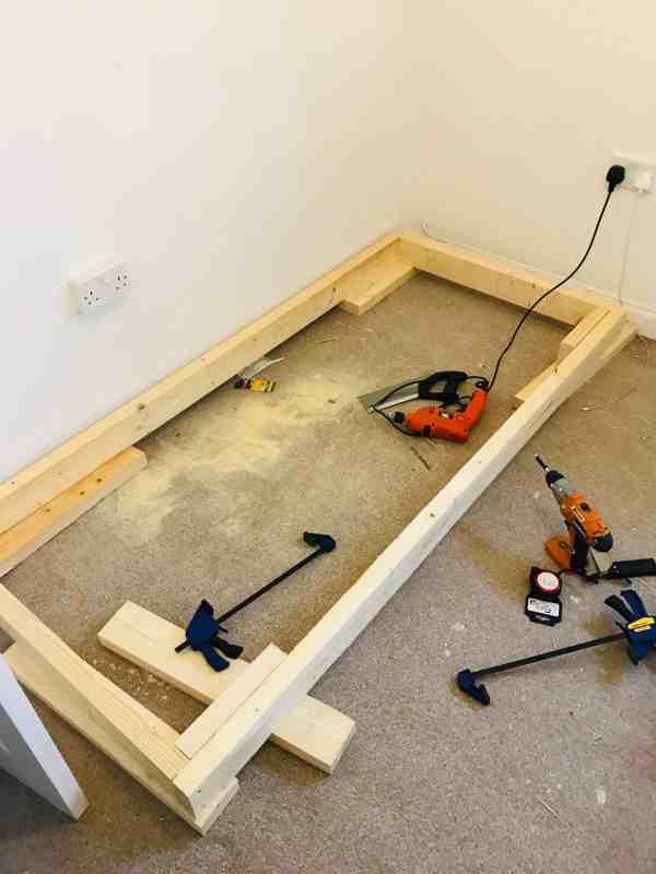 diy cabin bed frame