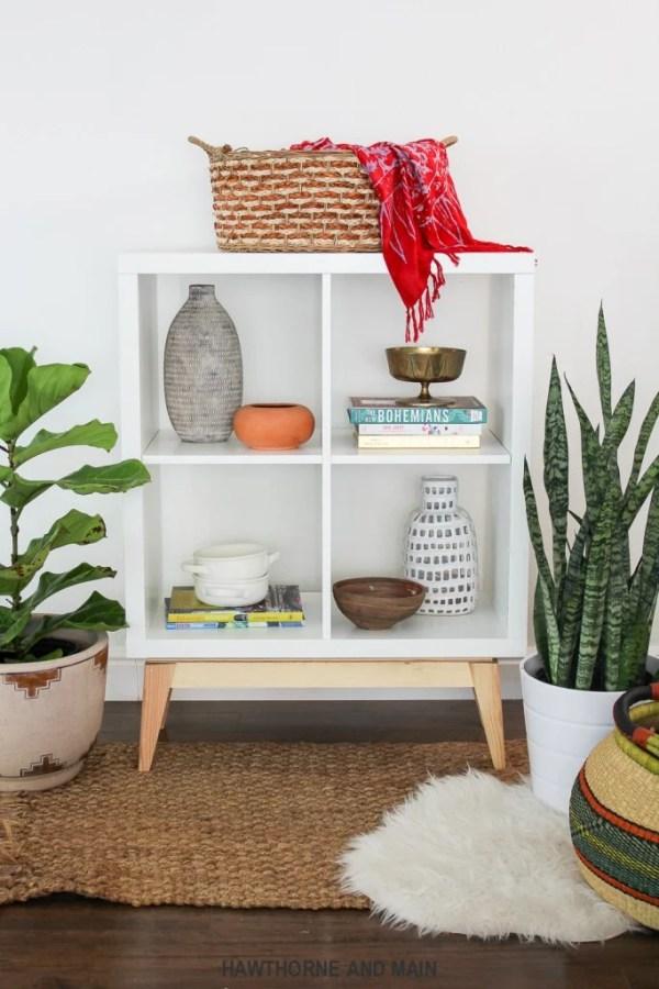 Ikea Kalax Mid-Century Modern Shelving Hack