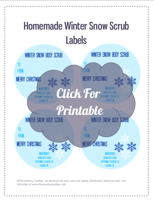 winter snow gift labels printabel