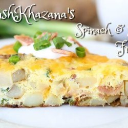 KhushKhazana's Spinach & Potato Fritatta