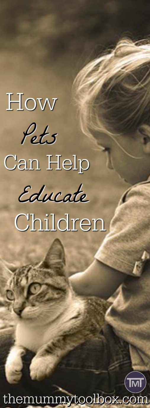 A fantastic guest post on how pets educate children and the role that they play in their upbringing! If you don't have pets, see how they can help!
