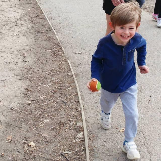 This little nugget loving juniorparkrun this morning! Always makes mehellip