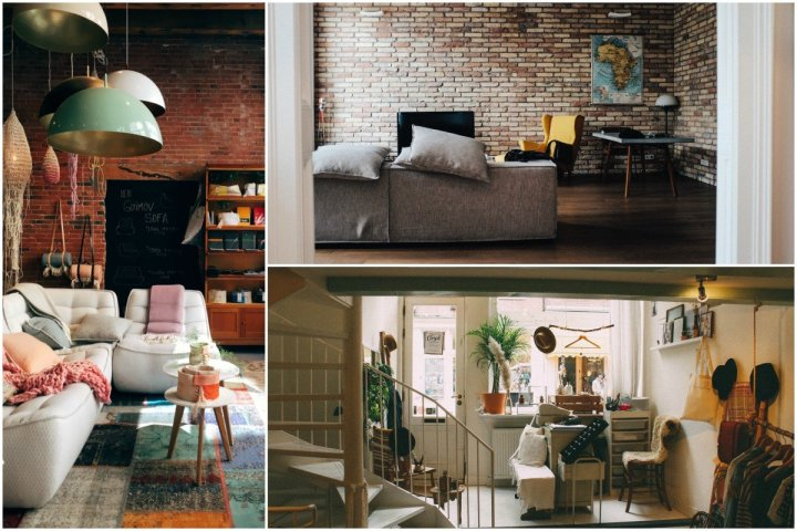 organized home living room collage