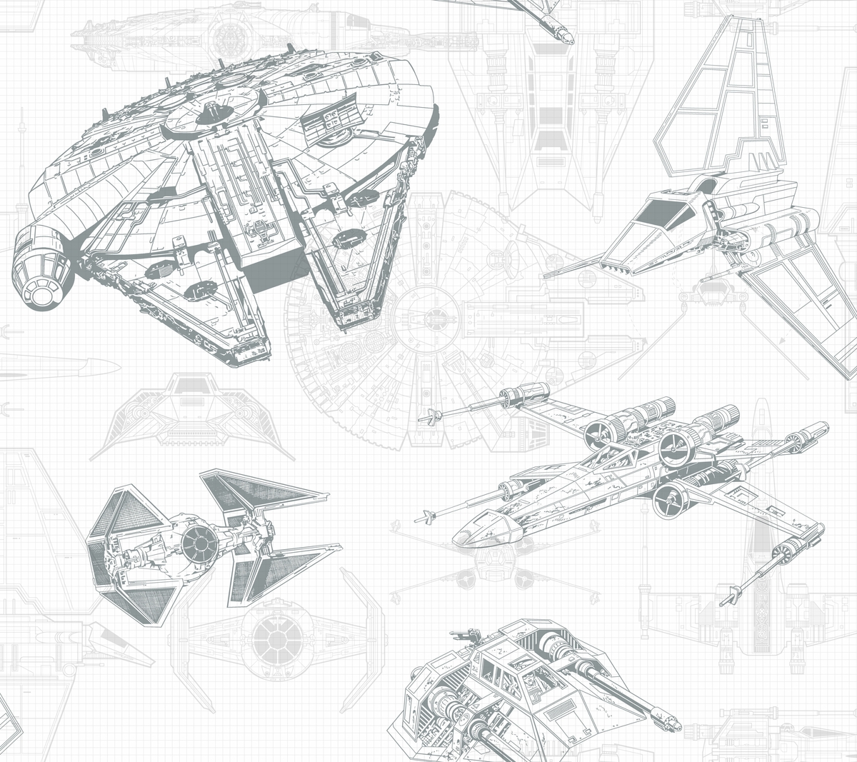 Star Wars Ship Schematic Wallpaper Wallpaper And Borders