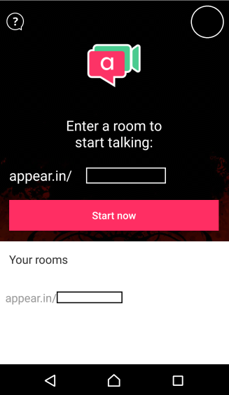 Appear.in Home