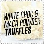 White Choc Truffles