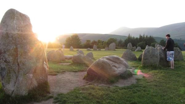 Sunset at Castlerigg stone circle, Cumbria ©Emma Tuzzio