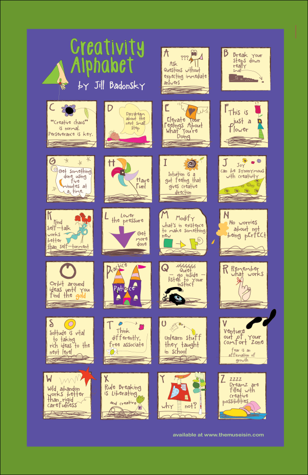 The Muse is IN - Creativity Alphabet Poster
