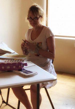 Jill Badonsky working