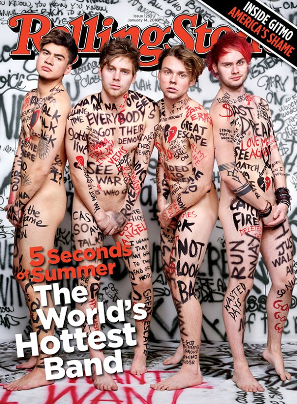 5 Seconds of Summer on the cover of Rolling Stone (© Rolling Stone)