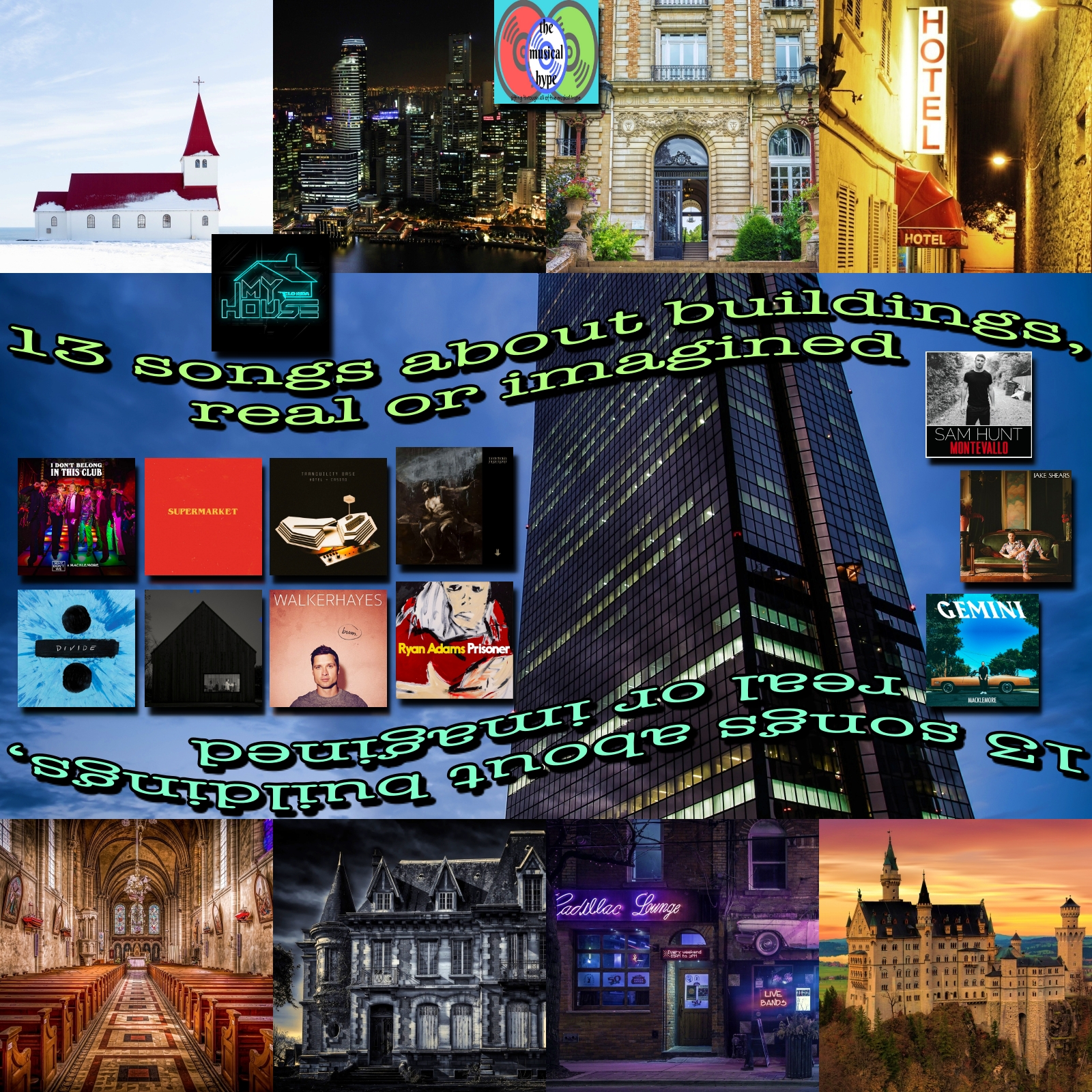 13 Songs About Buildings, Real or Imagined | Playlist