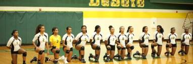 Students at DeSoto High School Volleyball team